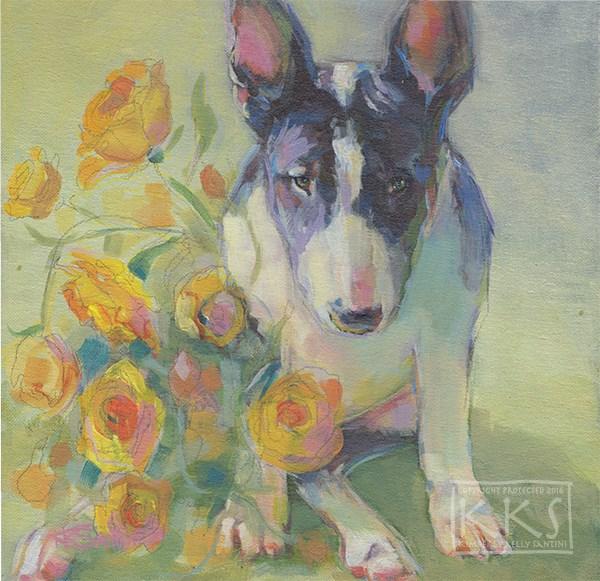 """Sweetie"" original fine art by Kimberly Santini"