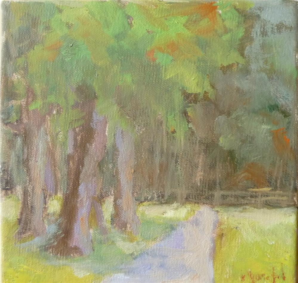 """Sunday Morning in the Park"" original fine art by Carol Josefiak"