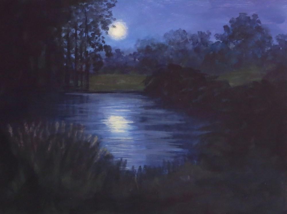 """""""Color My World - Night (half price)"""" original fine art by Elizabeth Elgin"""