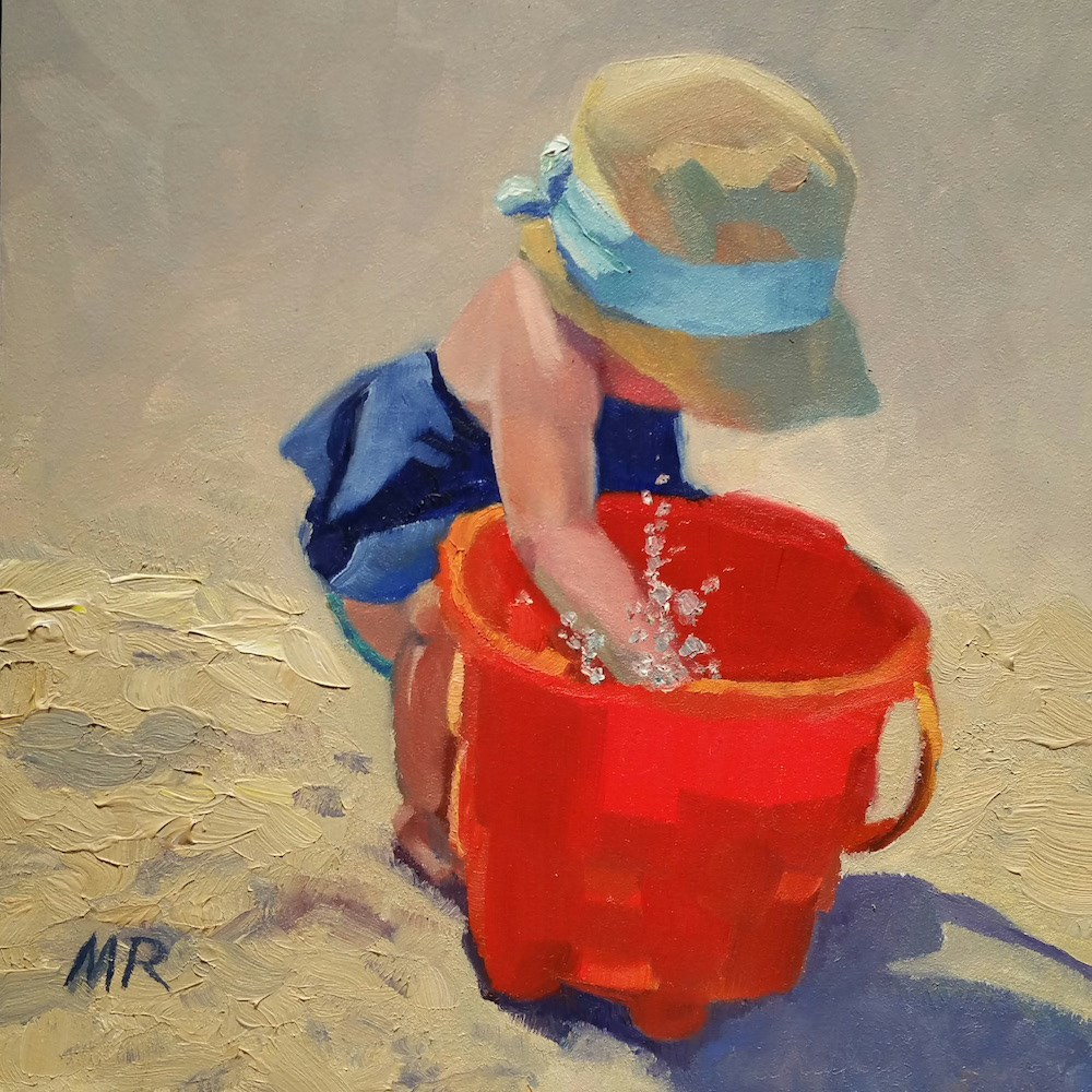 """The Beach is a Splash"" original fine art by Michelle Rideout"