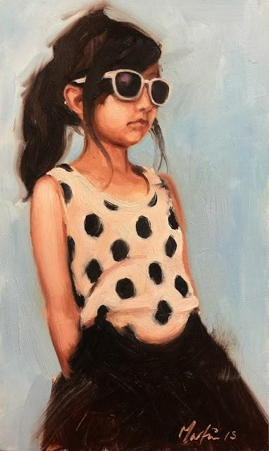 """Strolling"" original fine art by Chris Martin"