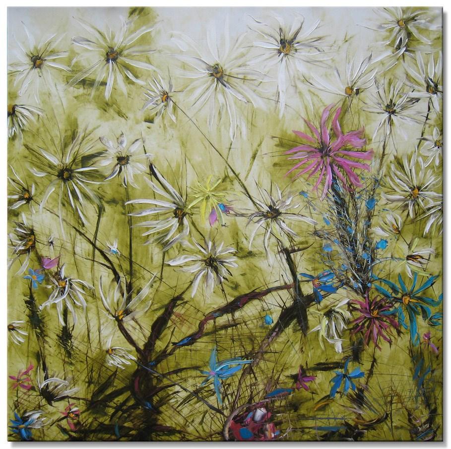 """""""Wild garden"""" original fine art by Elena Lunetskaya"""