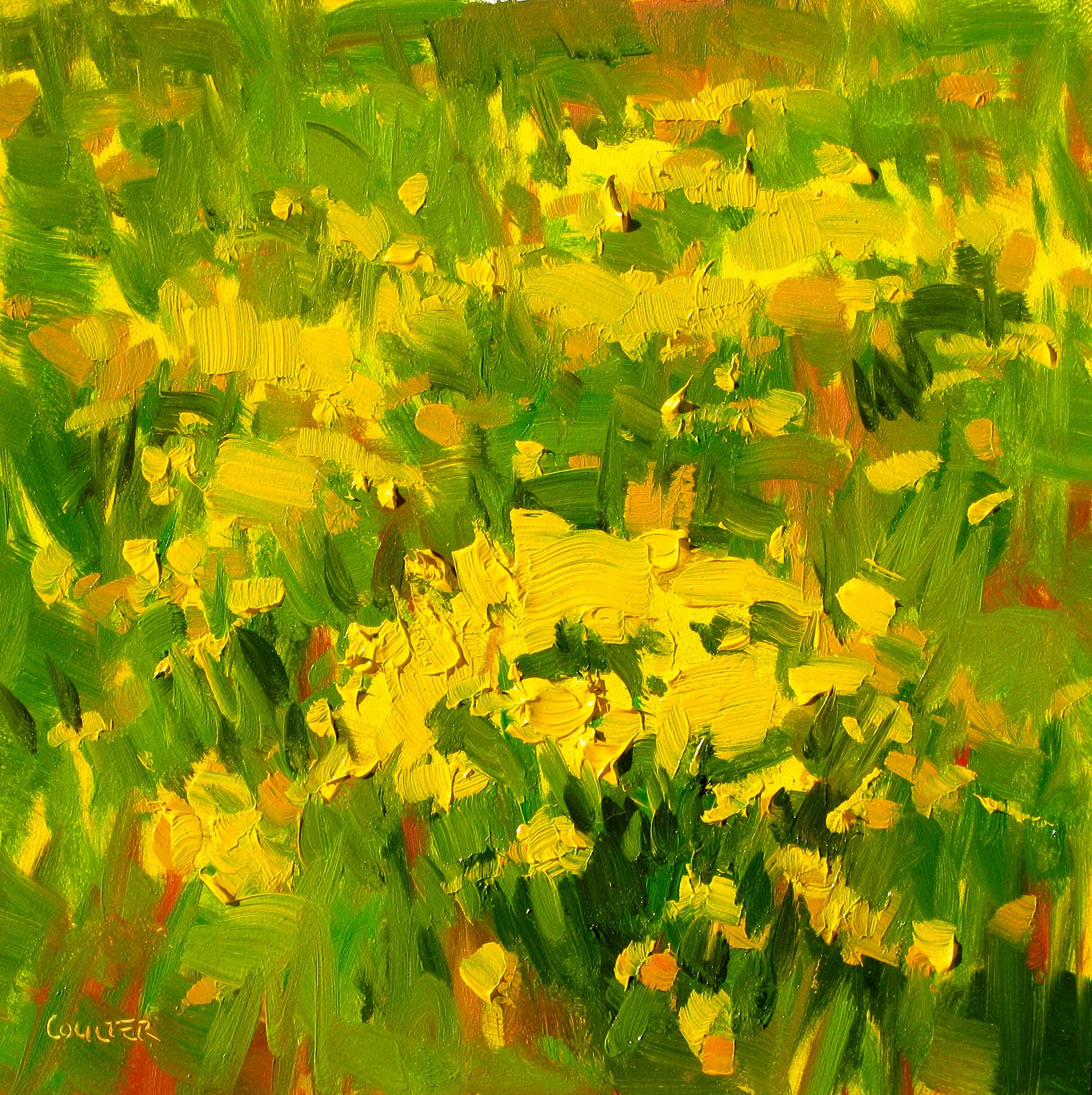 """DANDELION MEADOW"" original fine art by James Coulter"