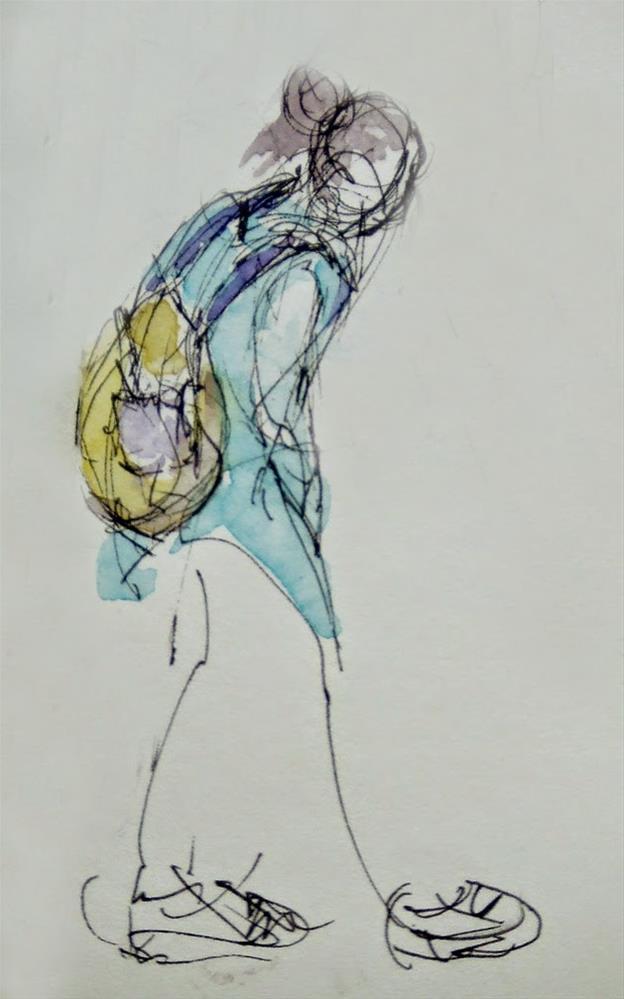 """""""Vquick-1"""" original fine art by Mitsuru Cope"""