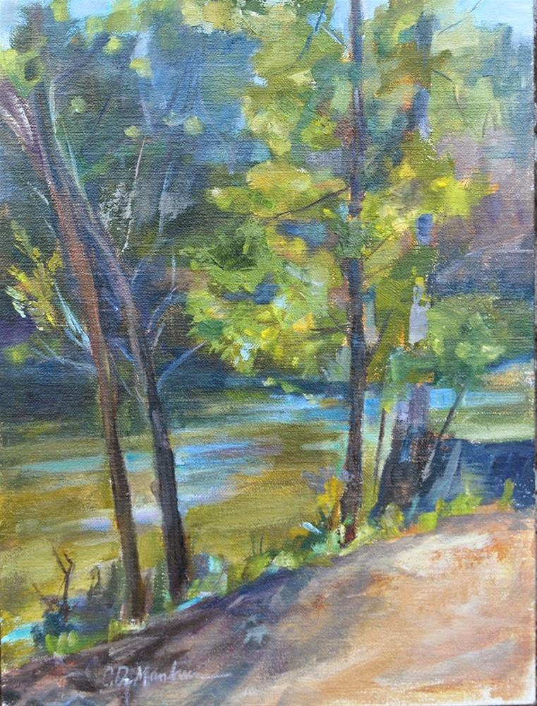 """Warner Parks, Nashville — Little Harpeth River, Original oil by Carol DeMumbrum"" original fine art by Carol DeMumbrum"
