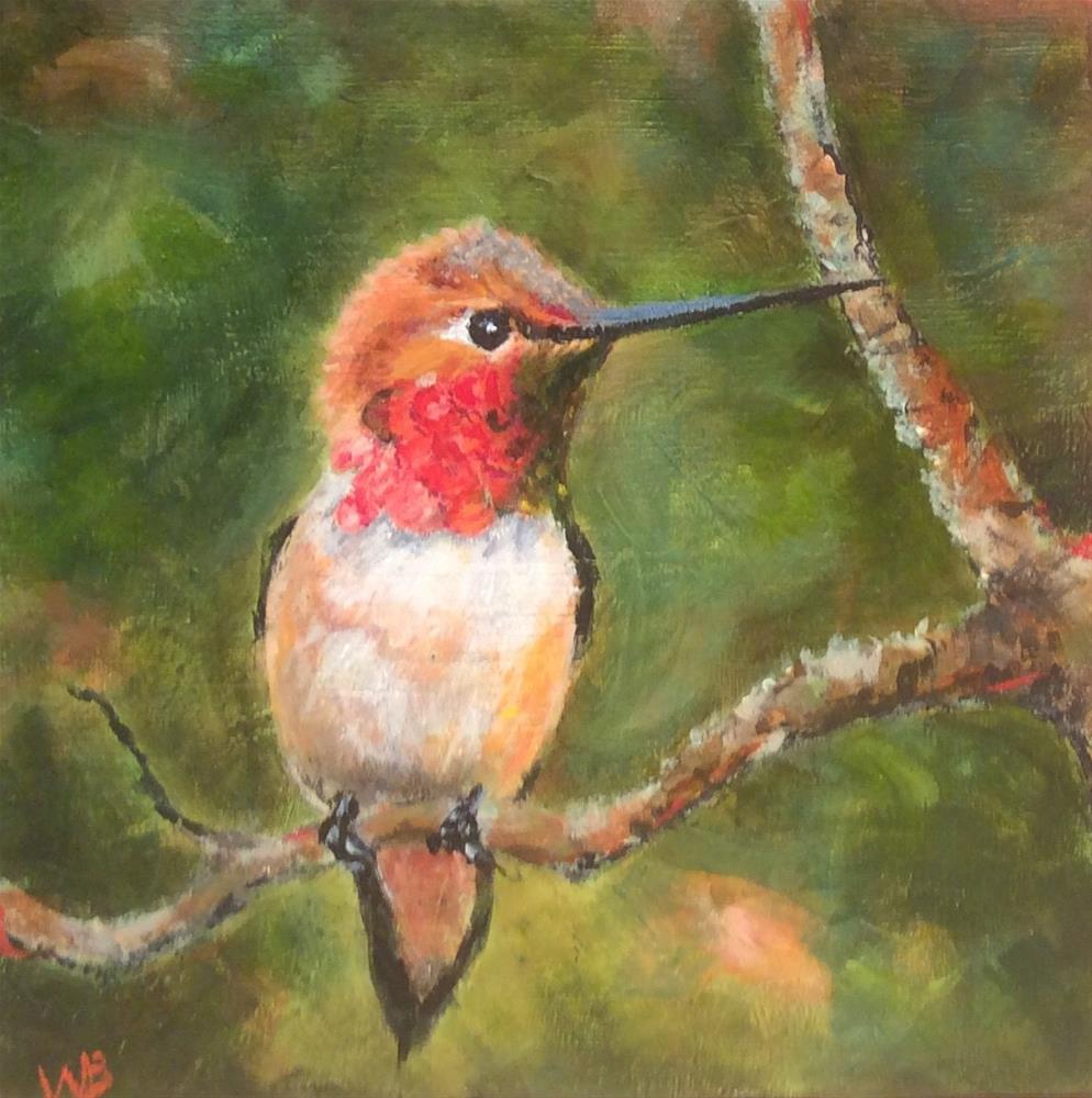 """Little Visitor"" original fine art by wendy black"