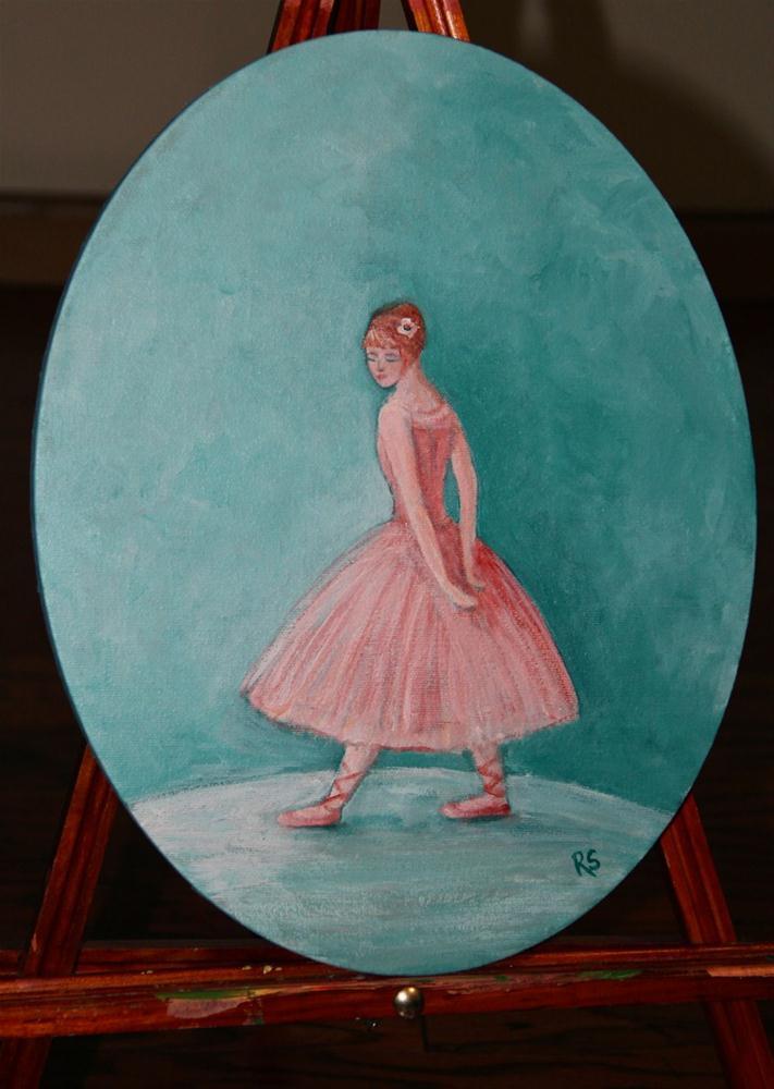 """The Petite Ballerina"" original fine art by Roberta Schmidt"