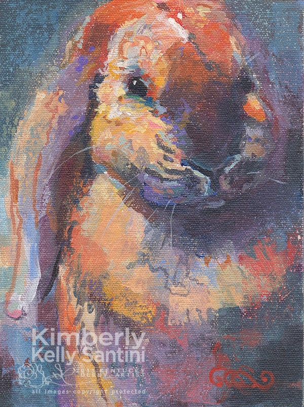 """Sir Bun"" original fine art by Kimberly Santini"