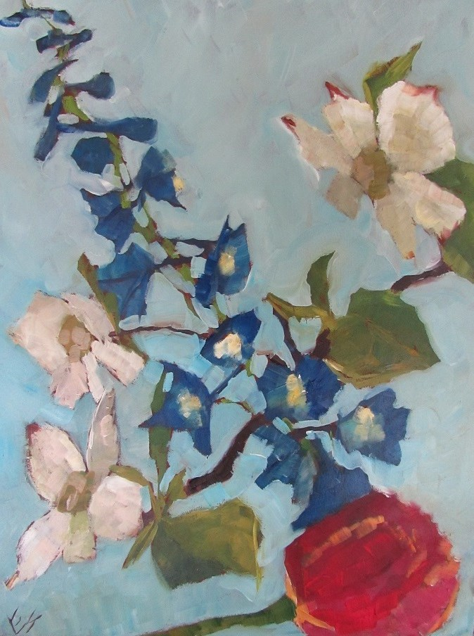 """Flowers"" original fine art by Elizabeth See"
