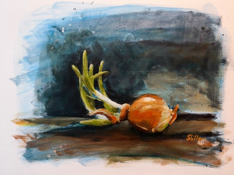 """1716 Stable Side Position"" original fine art by Dietmar Stiller"