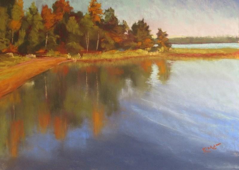 """""""Evening sun on the Baltic"""" original fine art by Ruth Mann"""