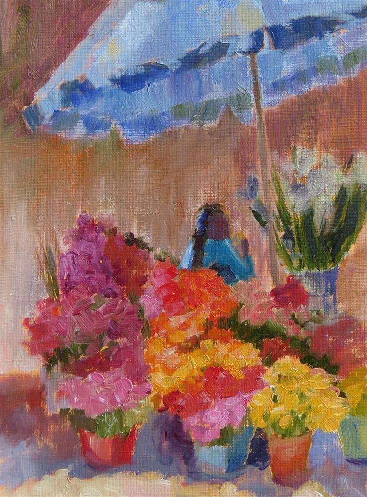 """Market Day"" original fine art by Pam Holnback"