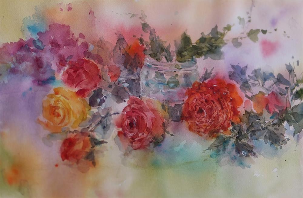 """""""9月"""" original fine art by Midori Yoshino"""