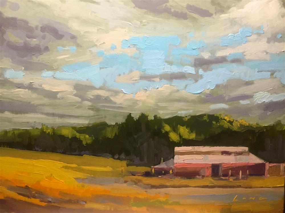"""Mystery Farm"" original fine art by Chris Long"