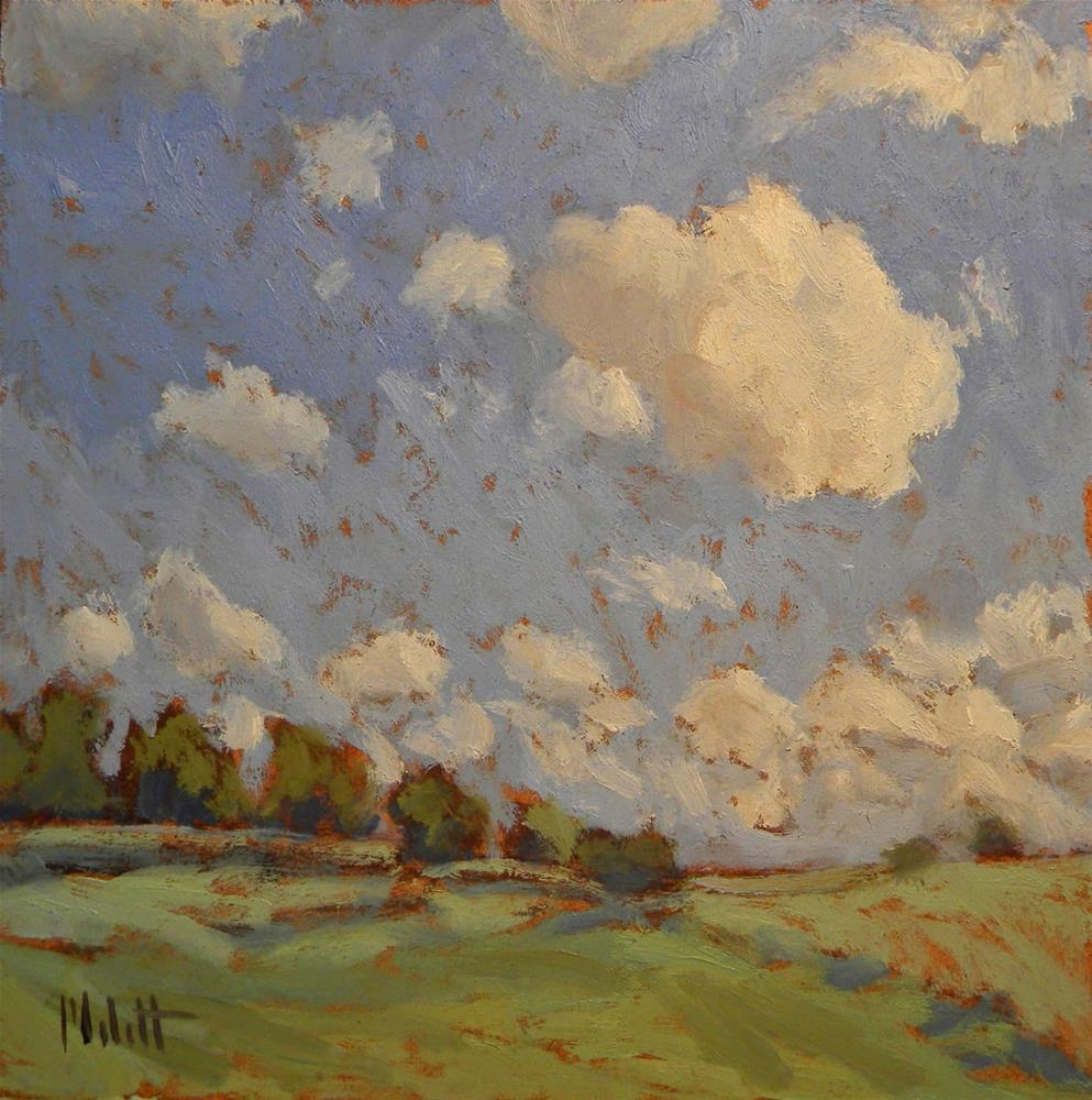 """The Overachiever Skies Landscape Impressionism"" original fine art by Heidi Malott"