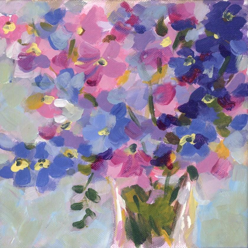 """Lisianthus Blues"" original fine art by Pamela Gatens"