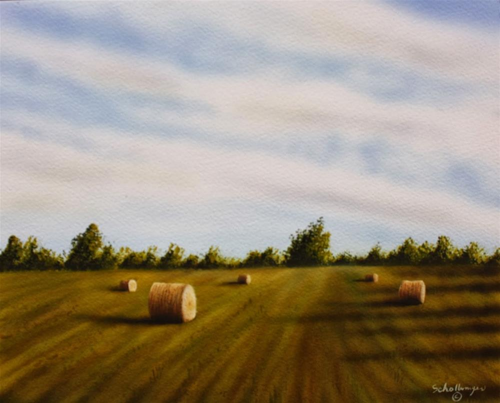 """Hay Field On Highway 100"" original fine art by Fred Schollmeyer"