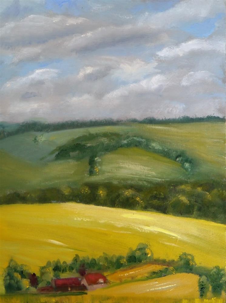 """Corhampton Down"" original fine art by Robin Coutts"