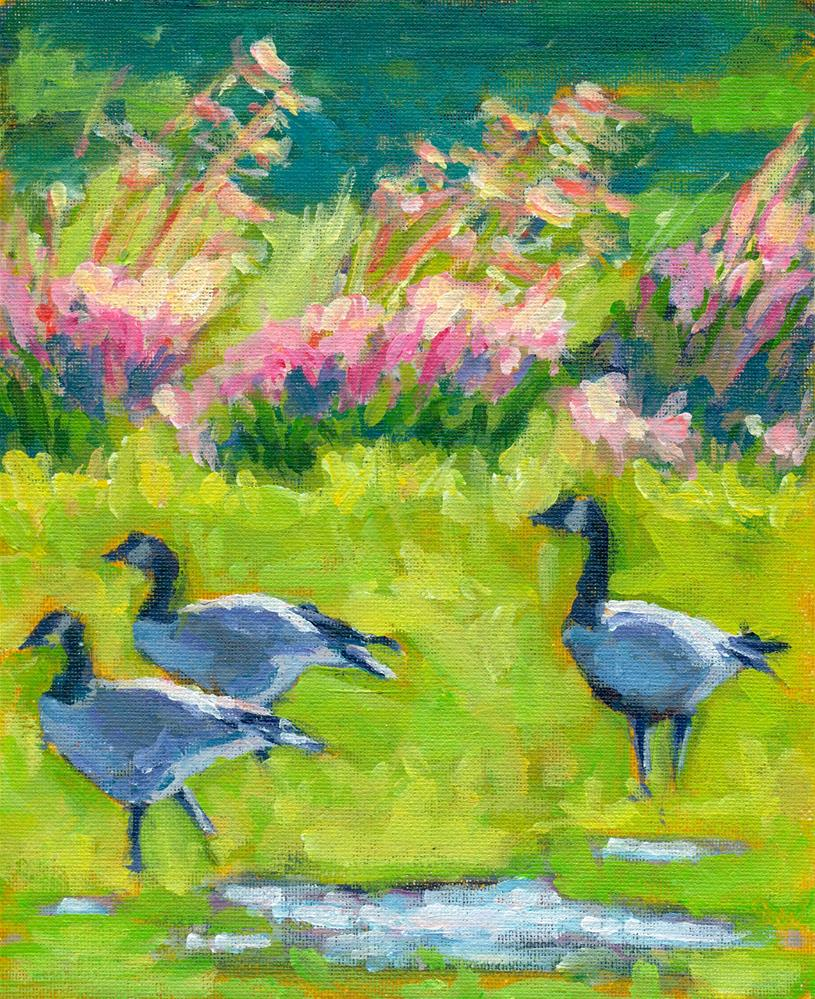 """Canadian Geese"" original fine art by Shelley Garries"