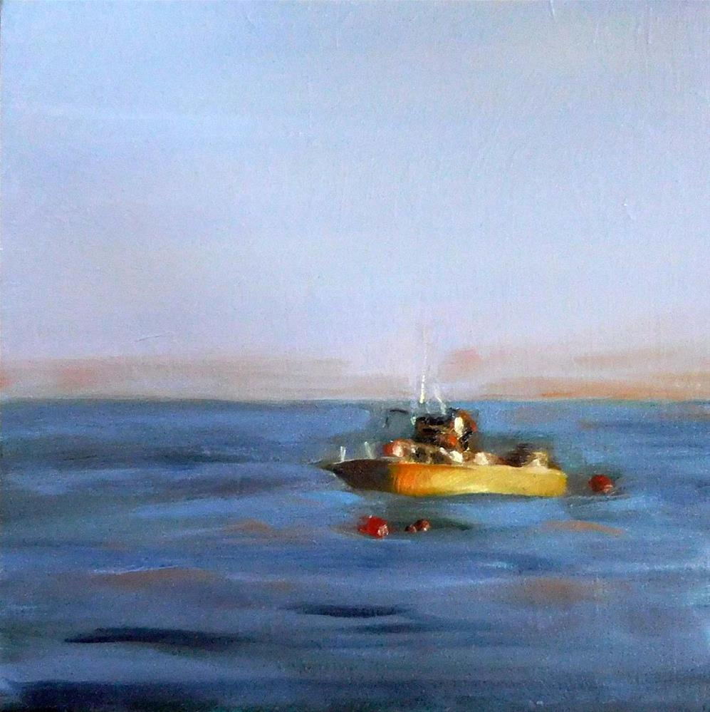 """Evening Mooring"" original fine art by Cietha Wilson"