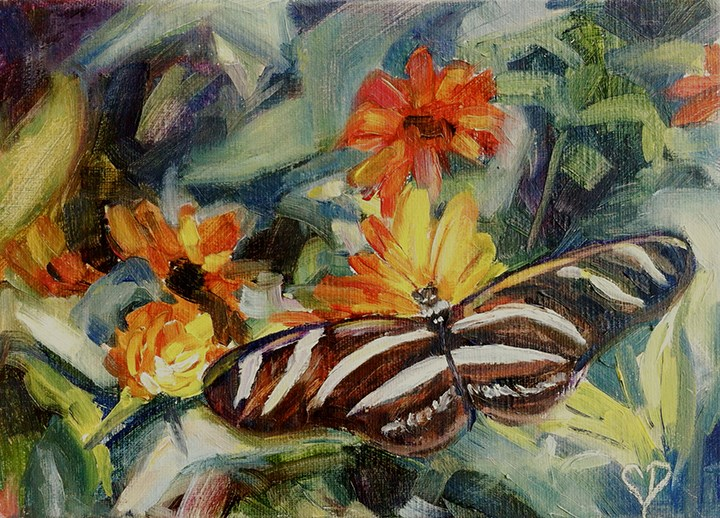 """Butterfly Wings"" original fine art by Carol DeMumbrum"