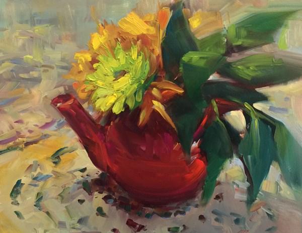 """I'm a Little Teapot"" original fine art by Patti McNutt"