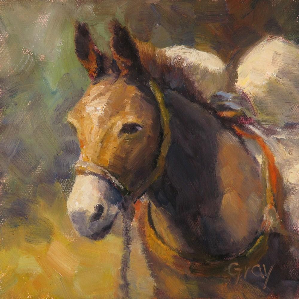 """Pack Mule"" original fine art by Naomi Gray"