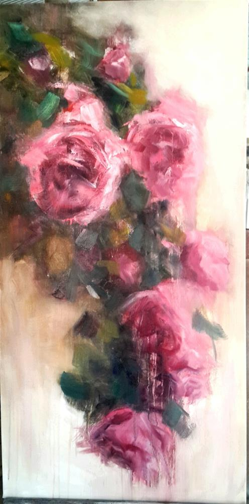 """Rambling rose"" original fine art by Rentia Coetzee"