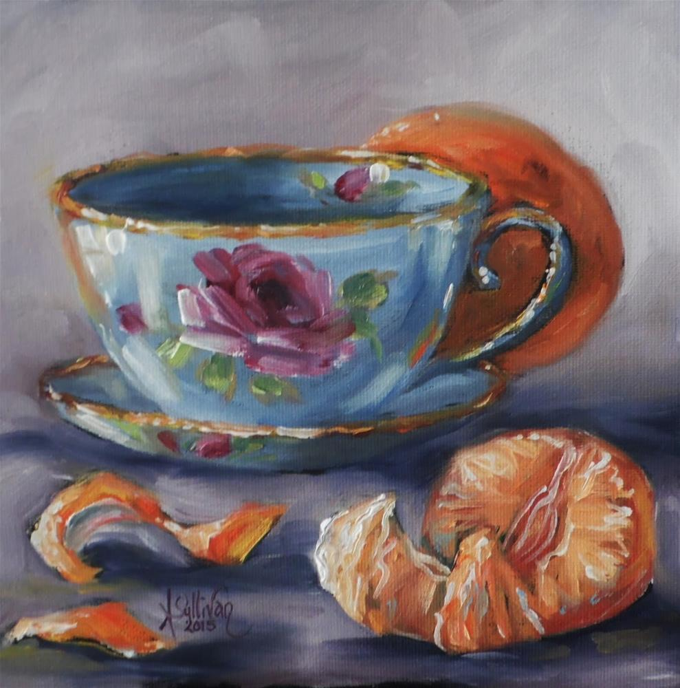 """Orange All Over still life painting by Alabama Artist Angela Sullivan"" original fine art by Angela Sullivan"