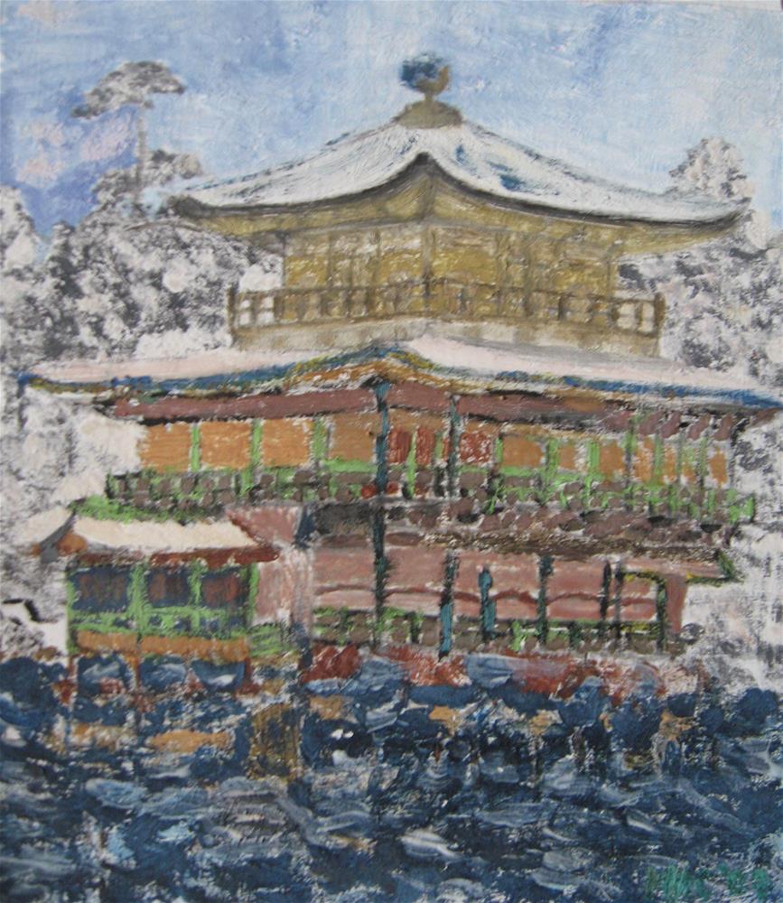 """Pagoda"" original fine art by Alina Frent"