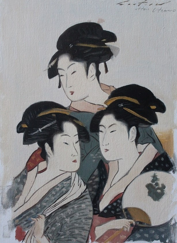 """Utamaro Study"" original fine art by Phil Couture"