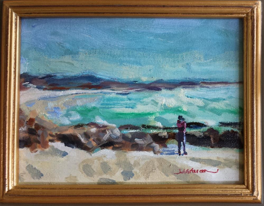 """""""Asilomar Beach Windy Day"""" original fine art by James Gorman"""