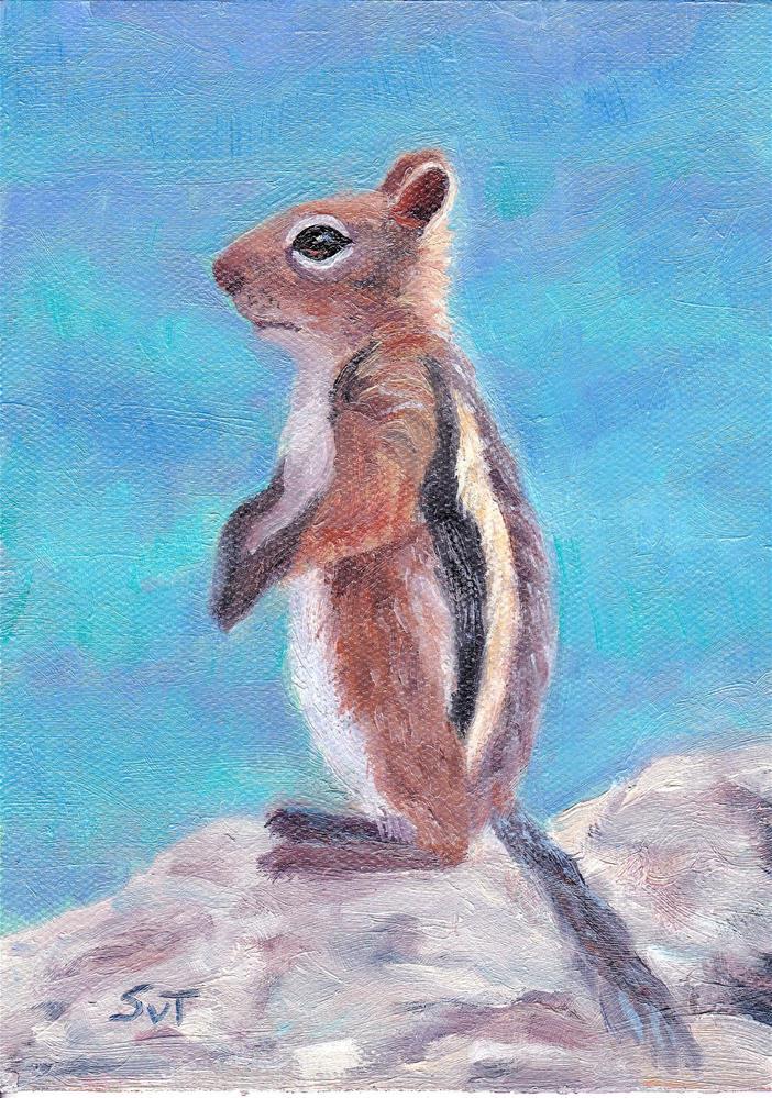 """On top of the world"" original fine art by Sue van Tonningen"