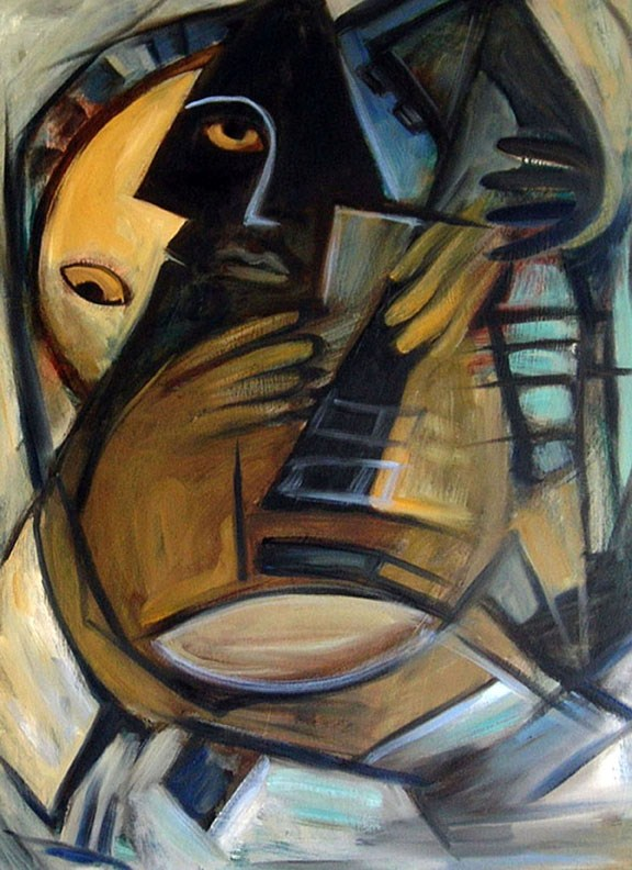 """Guitarist"" original fine art by Valerie Vescovi"