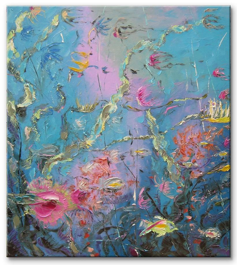 """Life on the reef"" original fine art by Elena Lunetskaya"