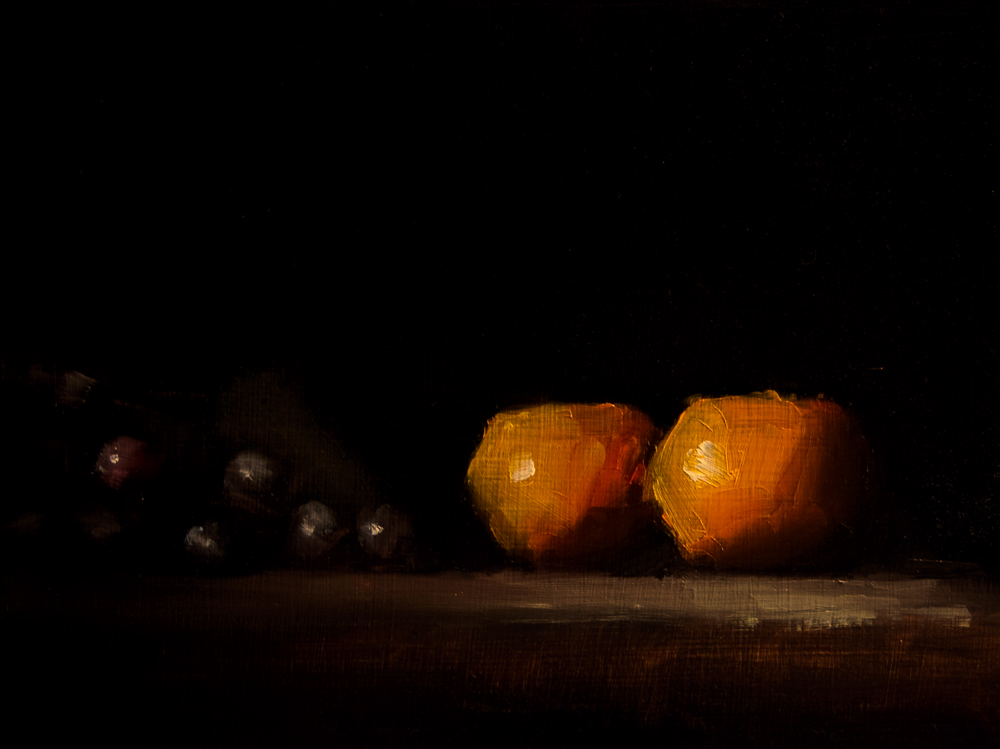"""Clementines"" original fine art by Neil Carroll"