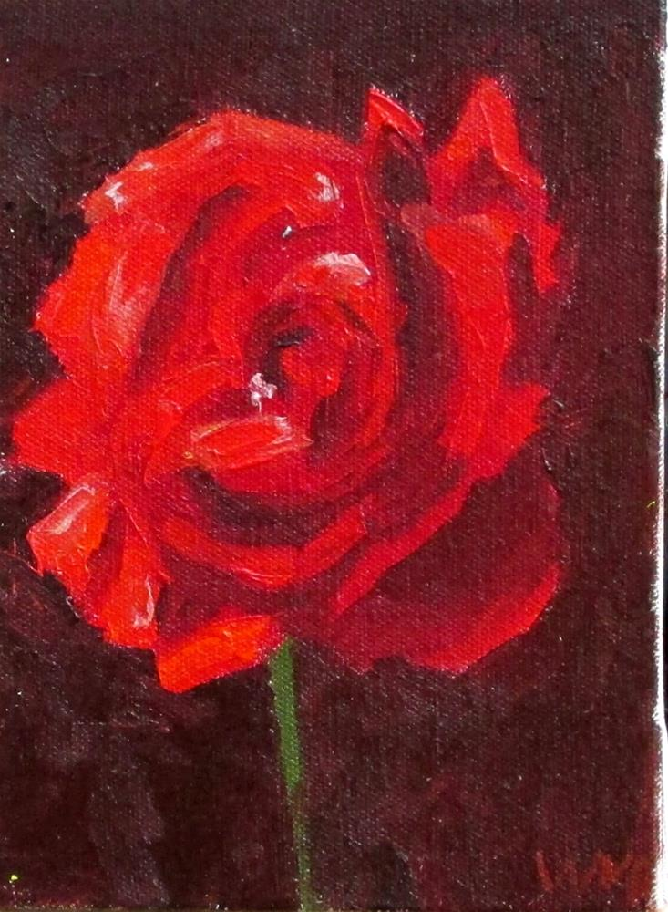 """Red Rose"" original fine art by Will Dargie"