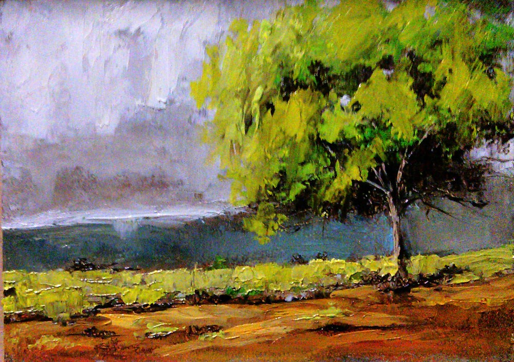 """A Tree in the Desert"" original fine art by Bob Kimball"