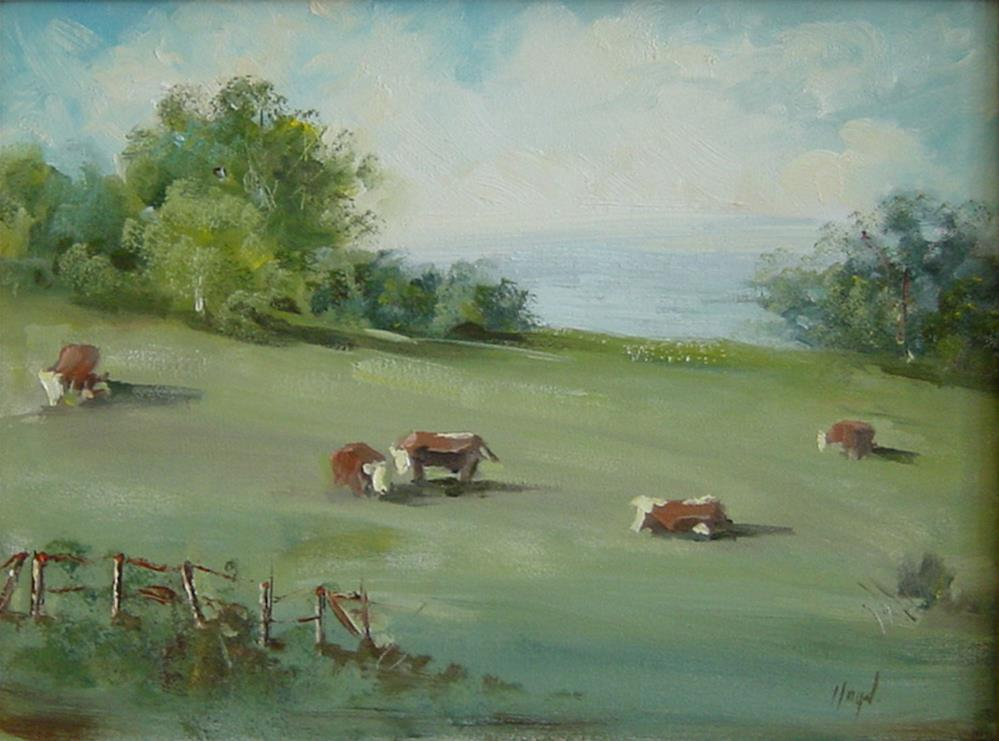 """Pasture"" original fine art by Diane Lloyd"