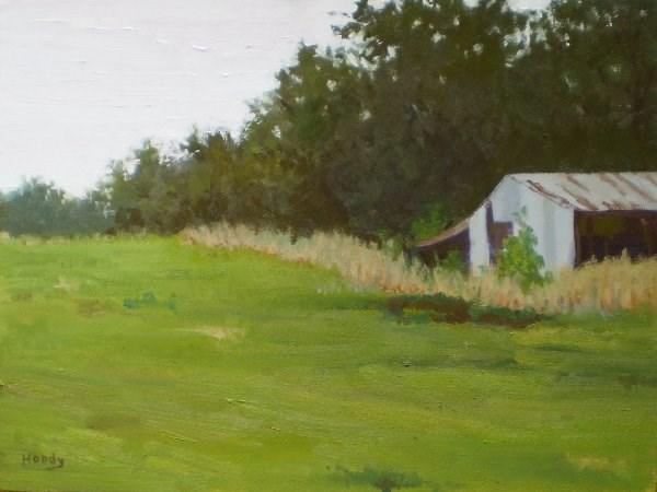 """""""Old Horse Barn"""" original fine art by Weston Hobdy"""