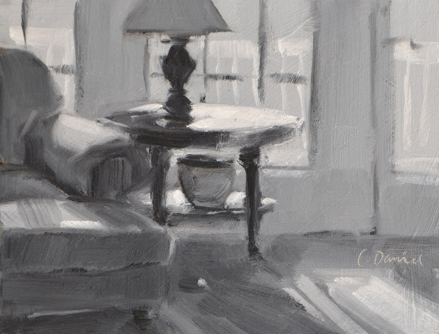 """Streaming Light Value Study"" original fine art by Laurel Daniel"