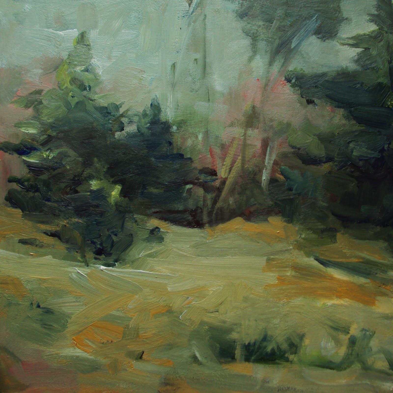 """The evergreen woods"" original fine art by Parastoo Ganjei"