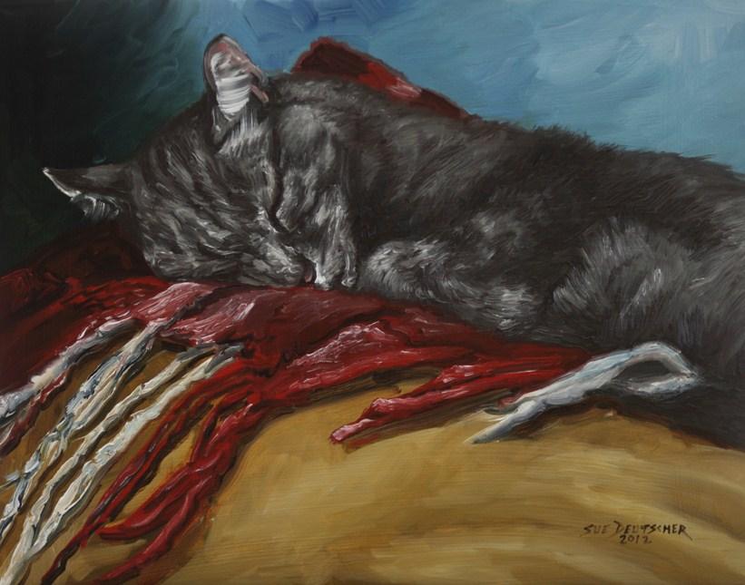 """""""Nine to Five"""" original fine art by Sue Deutscher"""