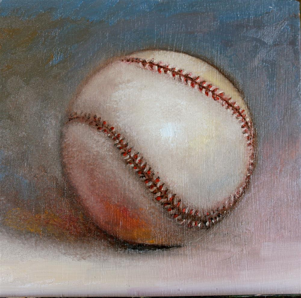 """Baseball"" original fine art by Tamsen Armstrong"