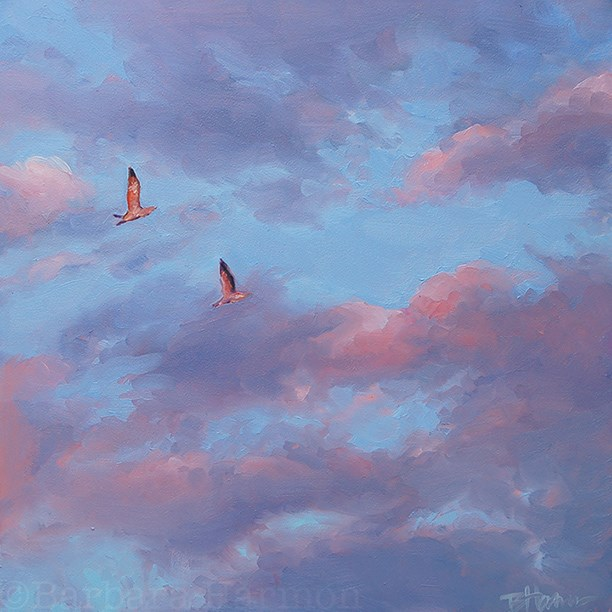 """Early Risers"" original fine art by Barbara Harmon"