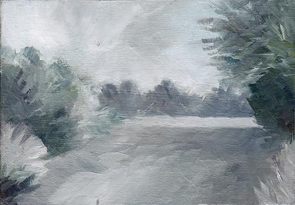 """Snowy Walk"" original fine art by J M Needham"