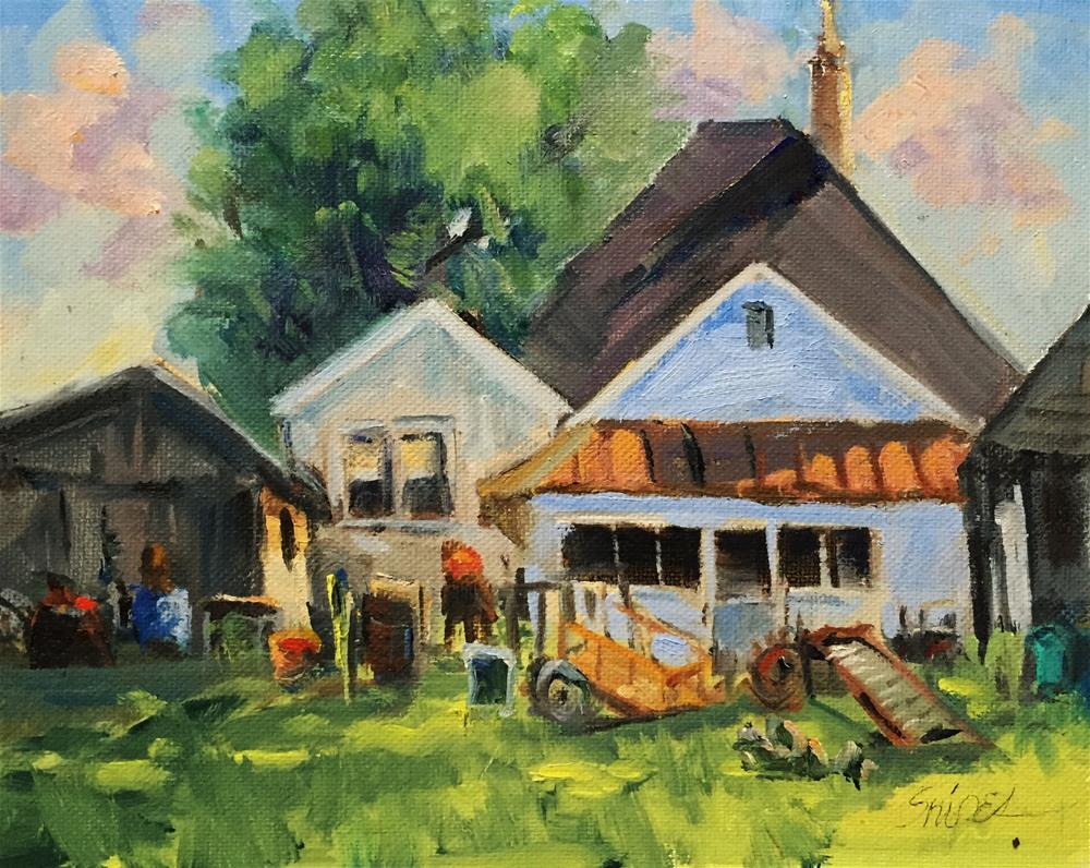 """Accumulations, Hunter Farm, Charlotte, NC"" original fine art by Connie Snipes"