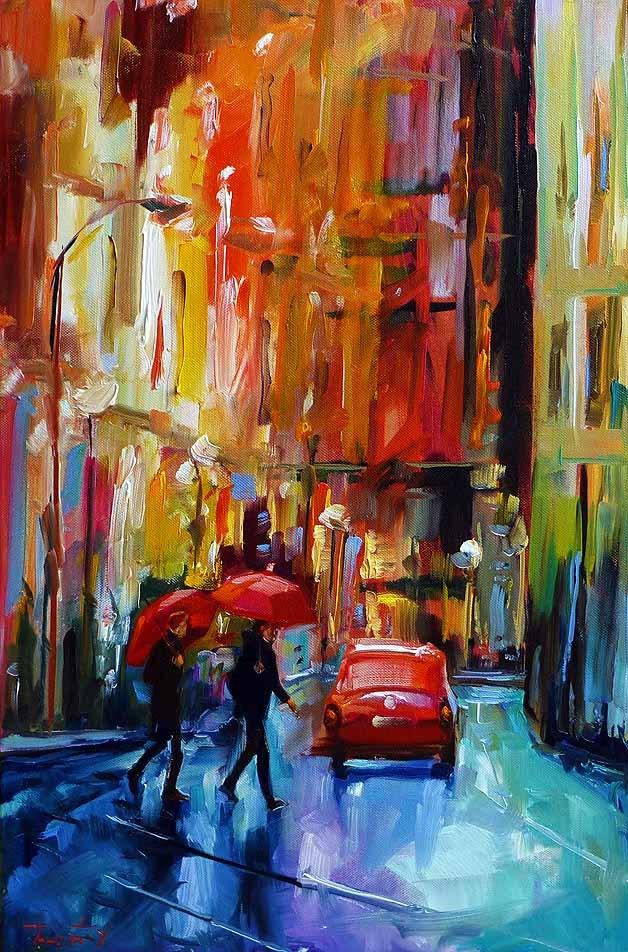 """Abend"" original fine art by Jurij Frey"