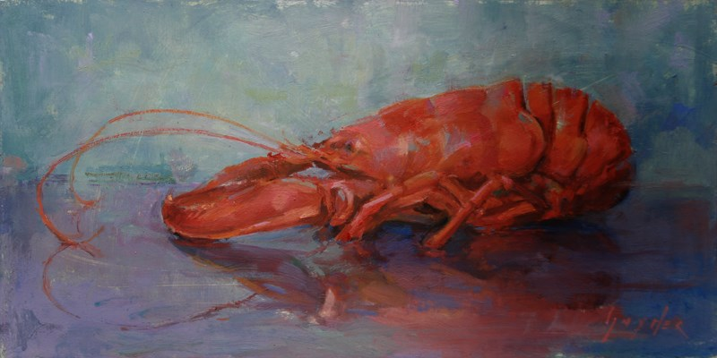 """Big Red"" original fine art by Julie Snyder"
