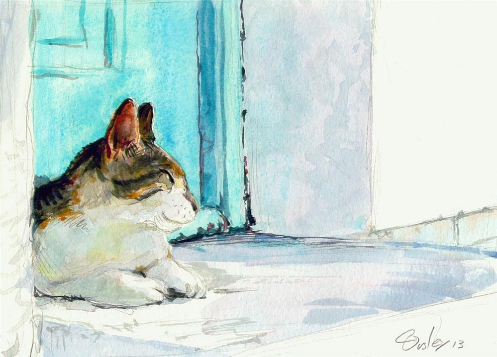 """Carlos' Chillin' (watercolor)"" original fine art by Chris Ousley"